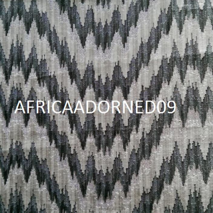 S4P4 EXOTIC FLAME STITCH WOVEN CUT VELVET UPHOLSTERY FABRIC 5 YARDS  GREYS