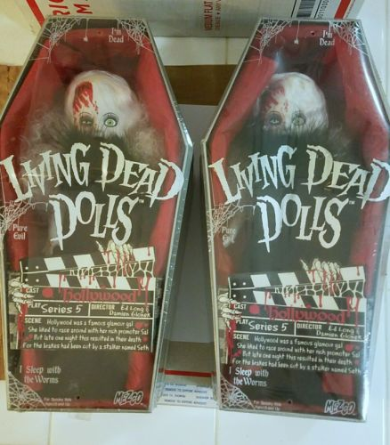 Living Dead Dolls Series 5 Hollywood Lot of Two factory sealed.Shares death date