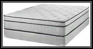 Twin Mattress Double Euro Pillow Top Mattress with Box Spring (Parkville MD
