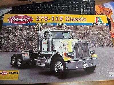 Italeri #3894 - Peterbilt 378-119 Classic kit. 1/24th scale. Dump truck Wrecker