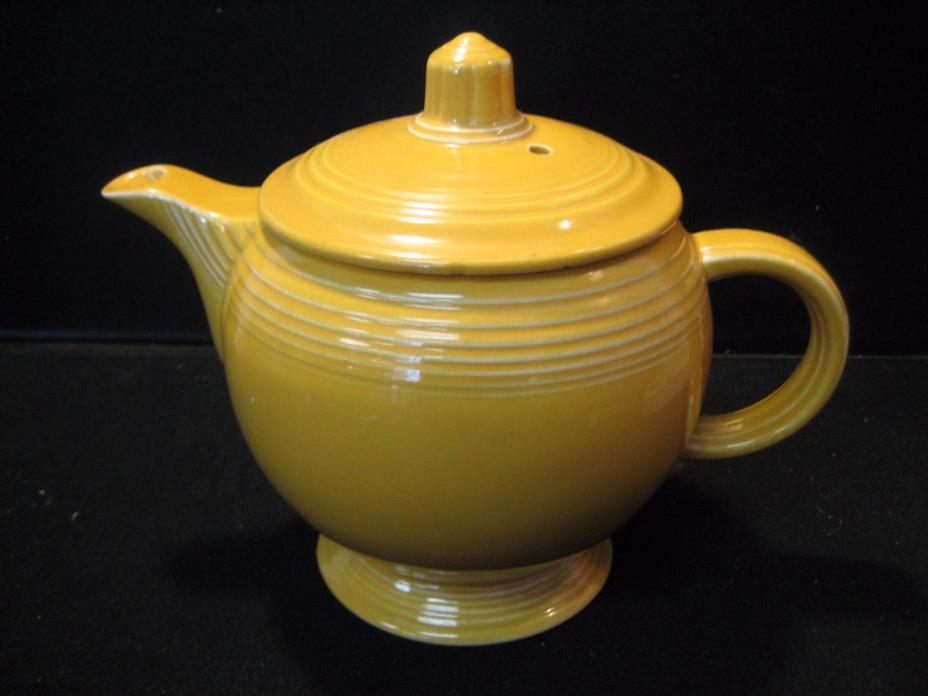 Fiesta Yellow Teapot Vintage Teapot with Lid Great - C Handle