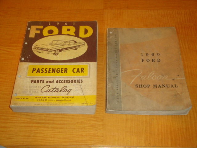 1960 FALCON & 1961 FORD ORIG PARTS CATALOG PASSENGER CAR PARTS & ACCESSORIES