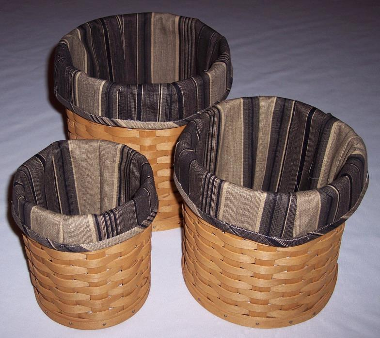 Longaberger Basket Canister Set For Sale Classifieds