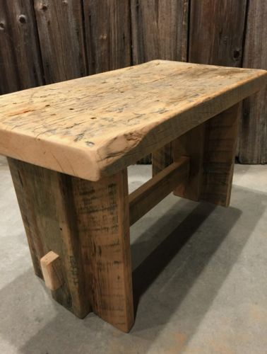 Reclaimed 1800's Barnwood Bench High Quality hand crafted. Rustic