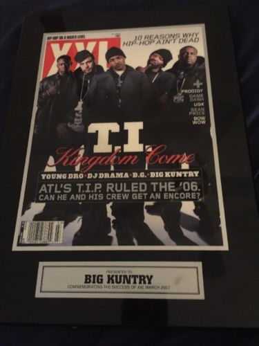 T.I. TIP CLIFFORD HARRIS Presented Big kuntry Wall Plaque Given To Big Kuntry