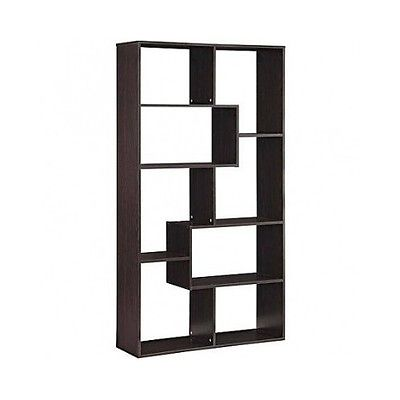 Mocha 8 Shelf Living Room Furniture Vase Book Shelf