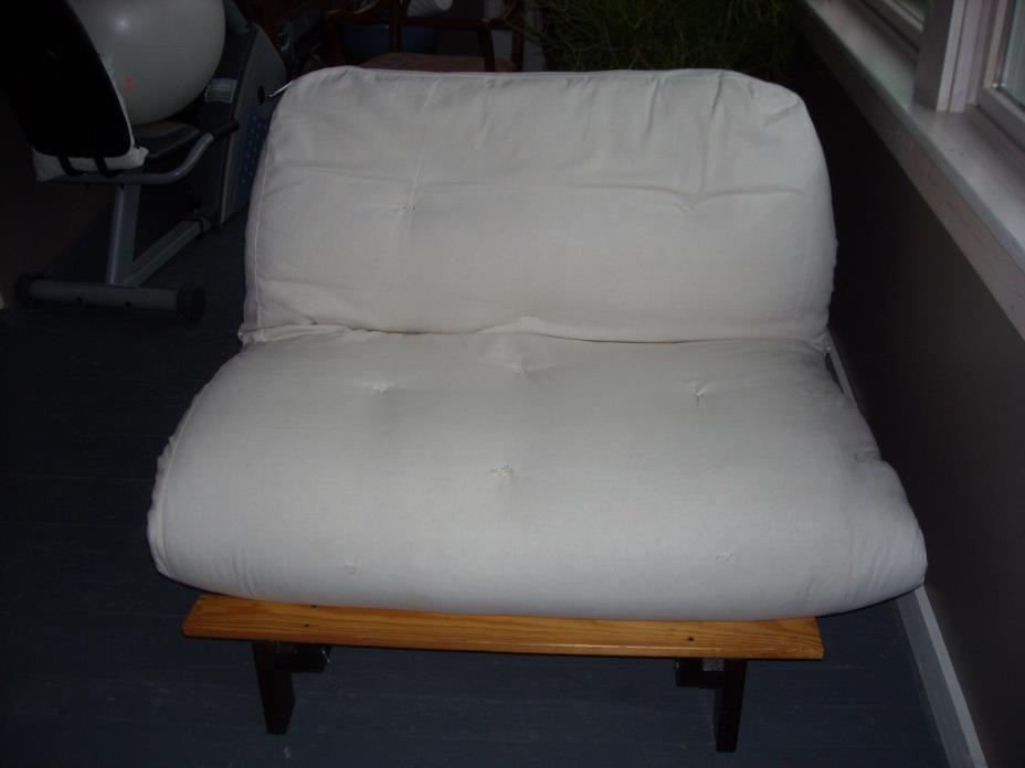 Futon frame and mattress
