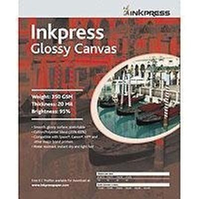 Inkjet Printer Paper Inkpress ACWG851110 Fine Art Glossy Canvas 350 GSM 8.5in. X