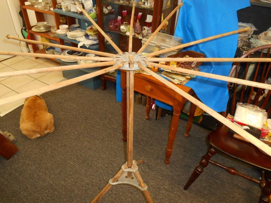 Old Fashioned Folding Metal Drying Rack