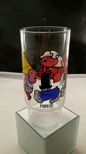 Popeye's Fried Chicken Popeye 1978 Water Glass