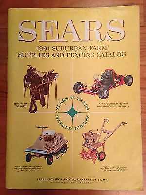 Vintage Sears 1961 Suburban-Farm Supplies and Fencing Catalog