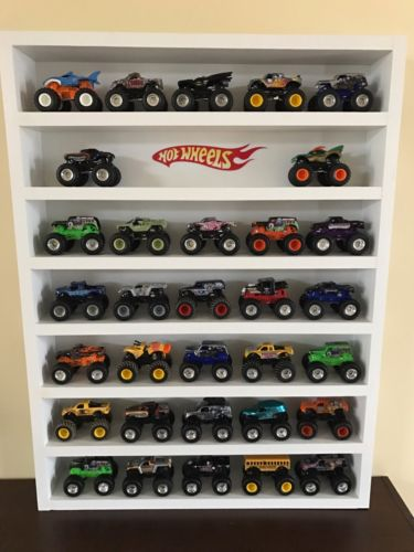 Custom Built Toy Hot Wheels Monster Truck Lot Wall Rack Display Case