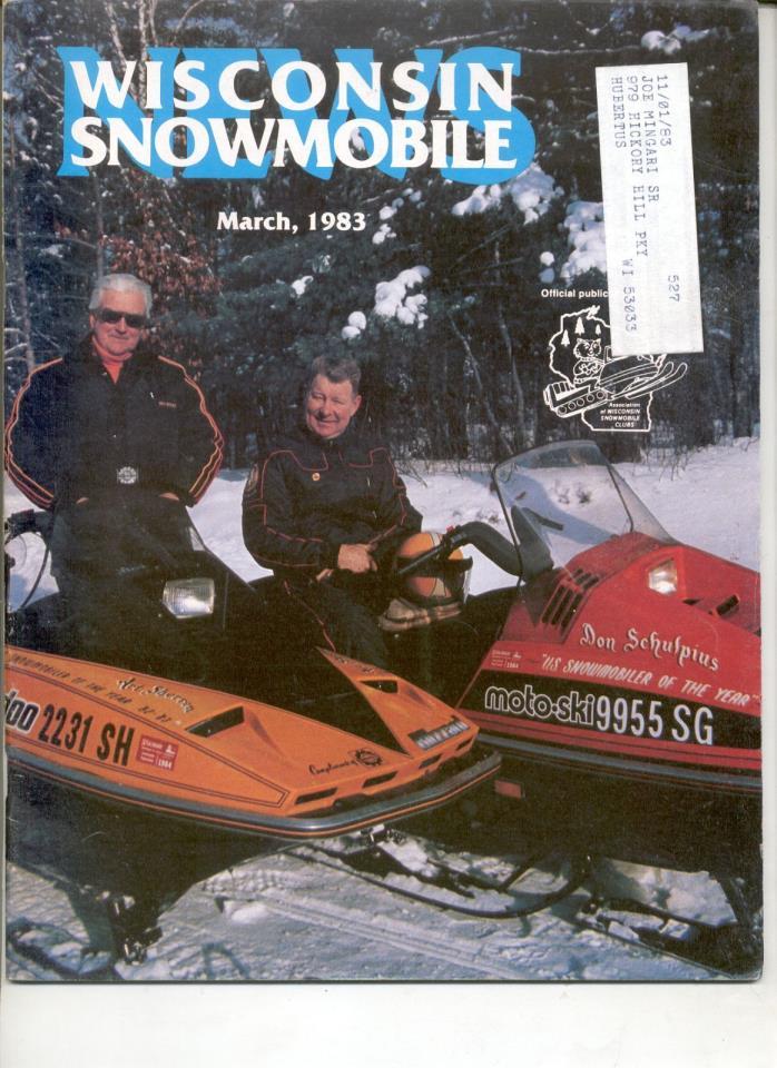 Vintage 1983 SNOWMOBILE MAGAZINE Ski-Doo MX Blizzard Moto Bombardier mx z plus83