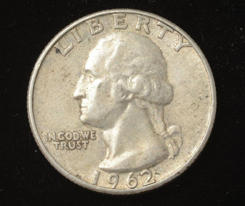 1962-D Denver Washington Quarter Dollar 25 Cents