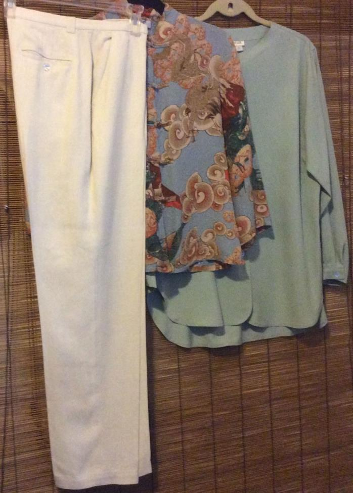 LOT Tommy Bahama Ann Taylor Aria A Small S LOT of 3 SILK Top Shirt Tunic Pants