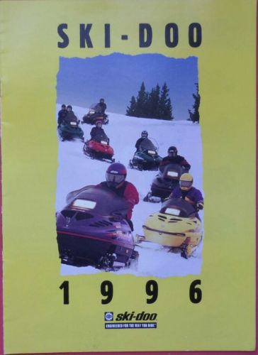 Vintage 1996 Ski-Doo Snowmobile Brochure Sales Catalog Promo
