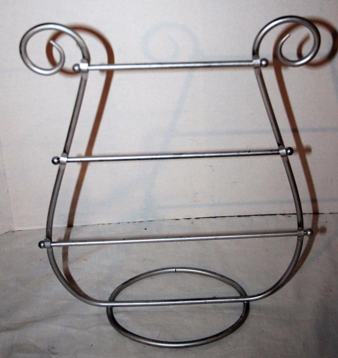 Silvertone Metal Earring Bracelet Necklace Holder Stand