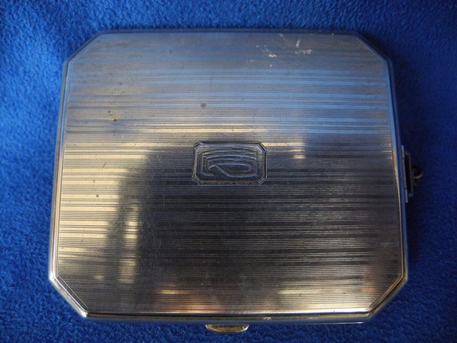 Antique Sterling Silver Cigarette Case 69 grams