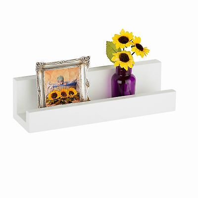 Honey Can Do White Wall Ledge Shelf