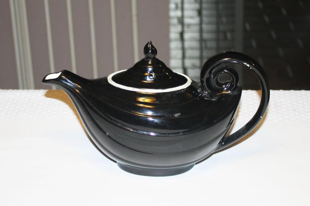 Hall Alladin Black Teapot
