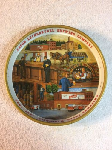 Jacob Leinenkugel Brewing Company 125th Anniversary Beer Tray