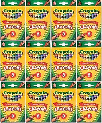 NEW Crayons Bulk Buy: Crayola Crayons 8/Pkg 52-3008 (12-Pack)