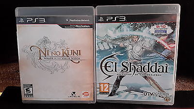 El Shaddai: Ascension of the Metatron and Nino Kuni PS3 Game Lot