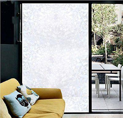 Coavas Decorative Static Film Privacy Window Film Self Adhesive Glass Film Frost