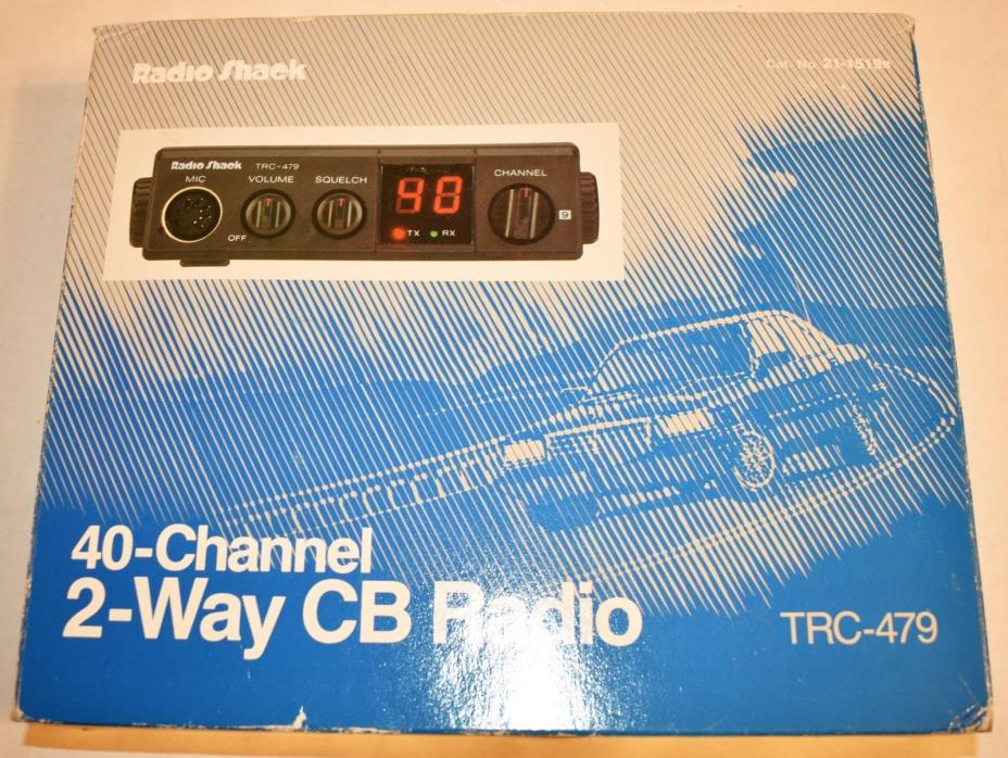 Radio Shack 40 Channel 2 Way CB Radio TRC-479 Complete In Box