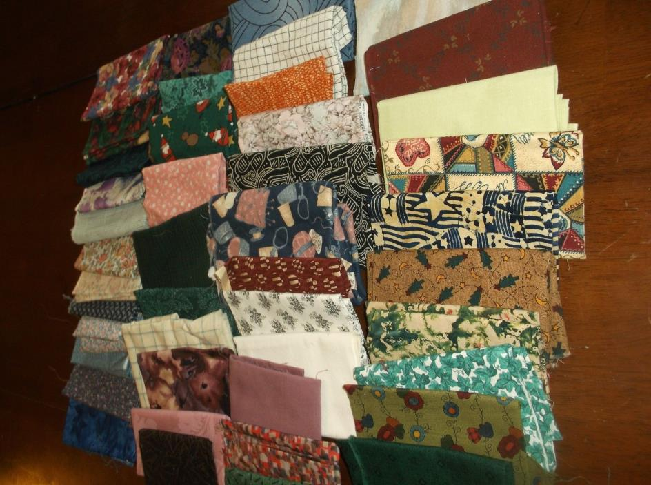 vtg cotton print quilting scraps over 2 1/2 pounds