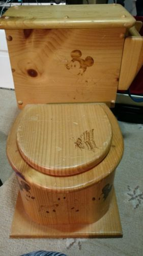 Childrens wood  potty chair