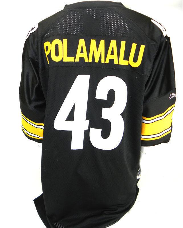 TROY POLAMALU, NFL Jersey, Reebok, Pittsburgh Steelers, Size: 56