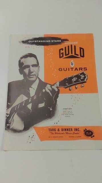 Guild Guitar Catalog  Vintage1955 4 pages Electric Acoustic Amplifiers Nice!