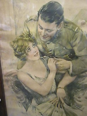 vintage lady/soldier paul siallar picture reprint