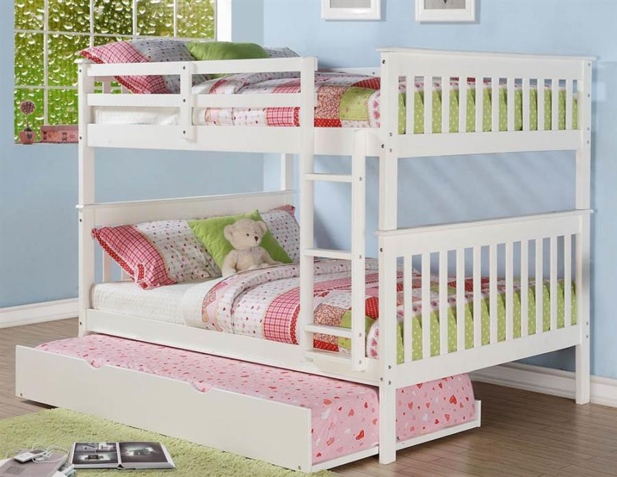 Full Over Full Mission Bunkbed with Roll Out Twin Trundle [ID 3319060]