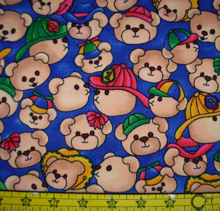 FABRIC -  TEDDY BEARS  - 1 1/3 YARDS - CORDUROY