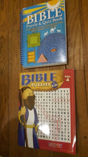 The Bible Puzzle & Quiz Book and Bible quiz for kids