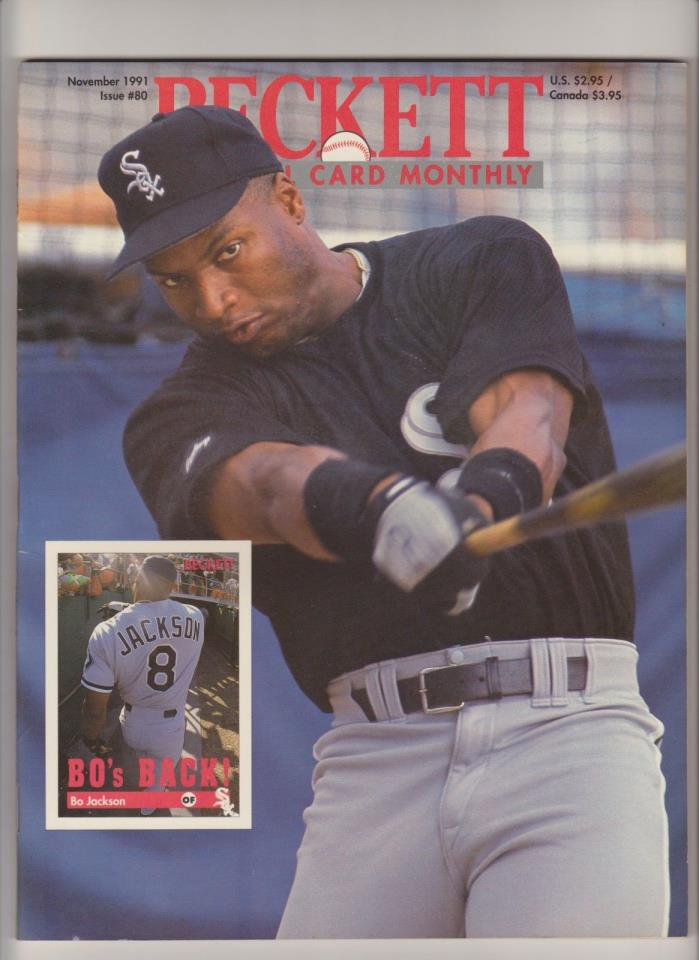1991 Beckett Baseball Monthly BO JACKSON White Sox MINT Unused
