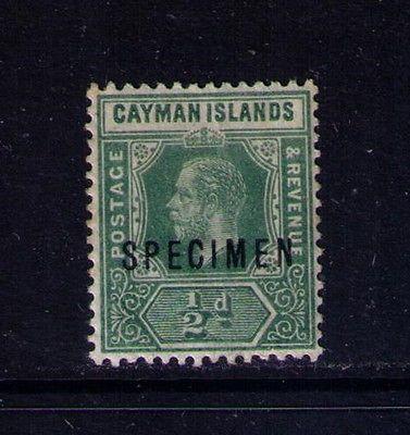 CAYMAN STAMP SC#33 SPECIMEN MH OG Cat.$50