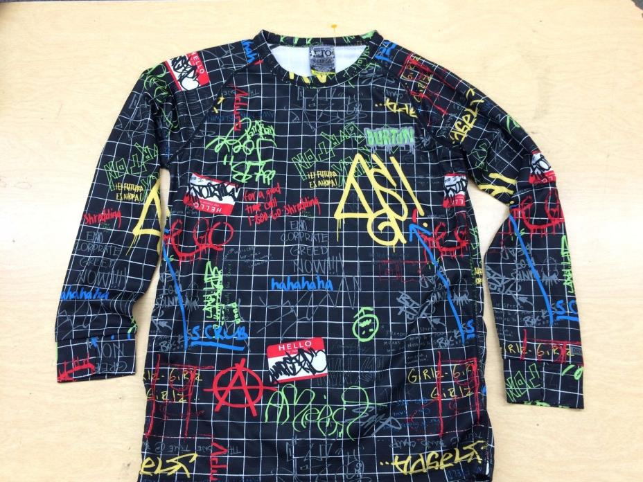 Burton DryRide Snowboard Shirt Jersey Youth XL Graffiti