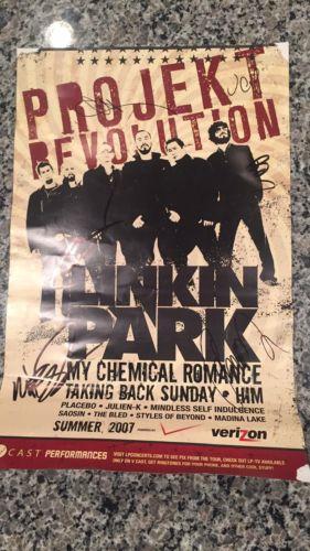 Linkin Park Autographed Poster