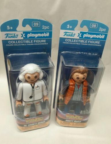 Funko Playmobil collectible Back to the Future doc Marty McFly figures