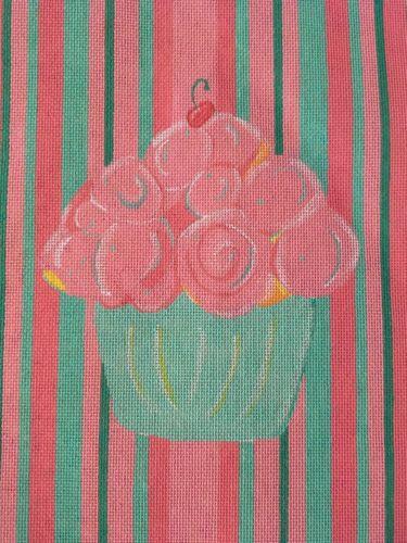 Cupcake Decor Needlepoint Canvas