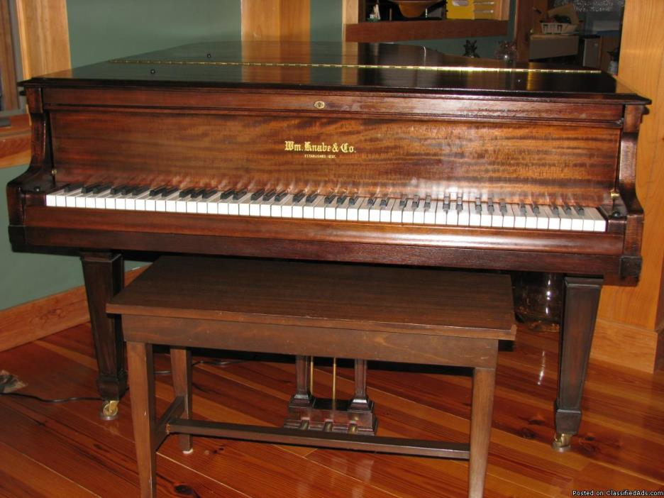 1921 Knabe Beautiful Medium Baby Grand Piano