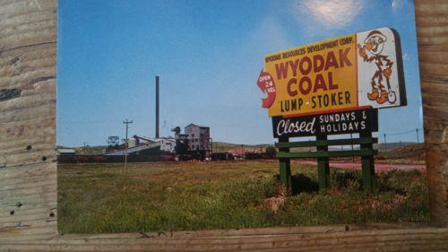 Vintage.Reddy Kilowatt WYODAK COAL LUMP STOKER post  card