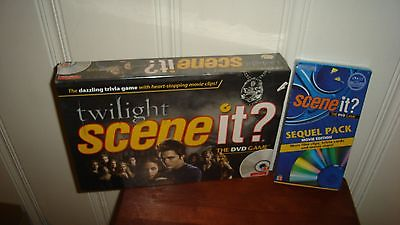 Twilight Scene It? Board Game + Scene It? Sequel Pack Movie Edition - New Sealed