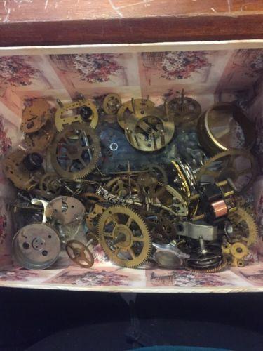 Pieces Lot Vintage Steampunk Wrist Watch Old Parts Gears Wheels Steam Punk