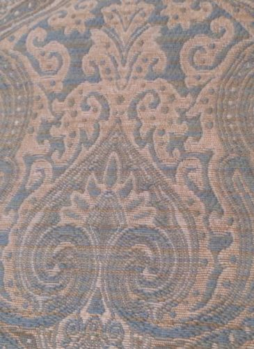 Upholstery Fabric 3 1/2 Yards - Blue Green Cream Beige Paisley - Finest Quality!