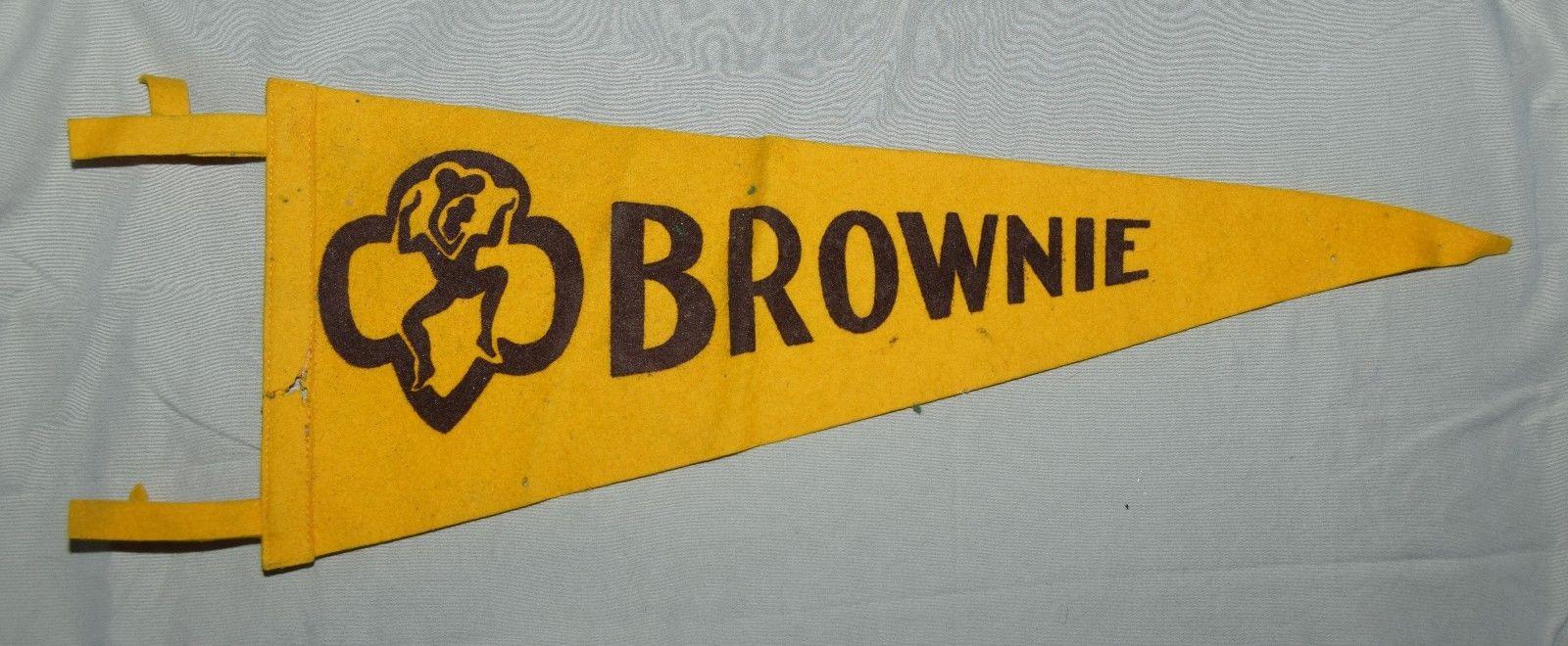 Vintage Brownie Scouting Pennant