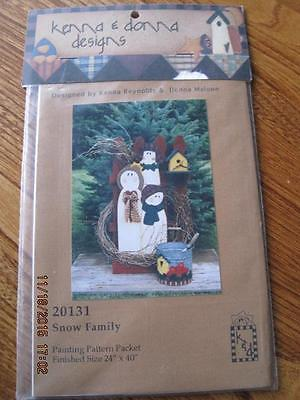 SNOW FAMILY Painting Pattern Packet Sealed 20131 24 x 40